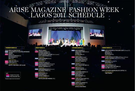 ARISE Magazine Fashion Week Schedule