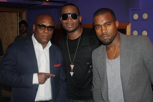 LA Reid, D'Banj, and Kanye