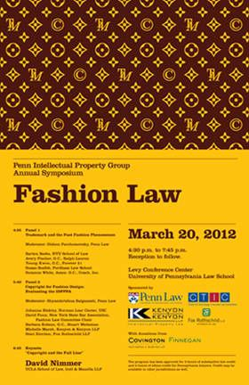 2012 IP Issues in Fashion Law Symposium Poster