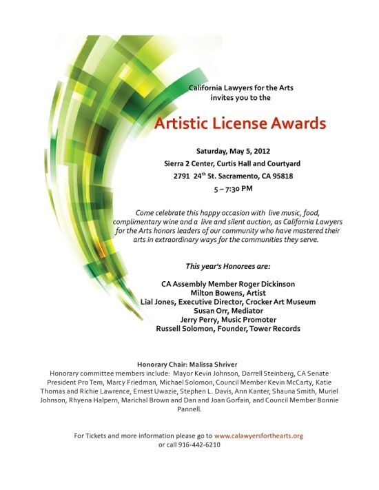 Russell Solomon Tower Records Artistic License Awards
