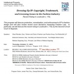 Dressing Up IP- Trademark, Copyright and Licensing Issues in the Fashion Industry