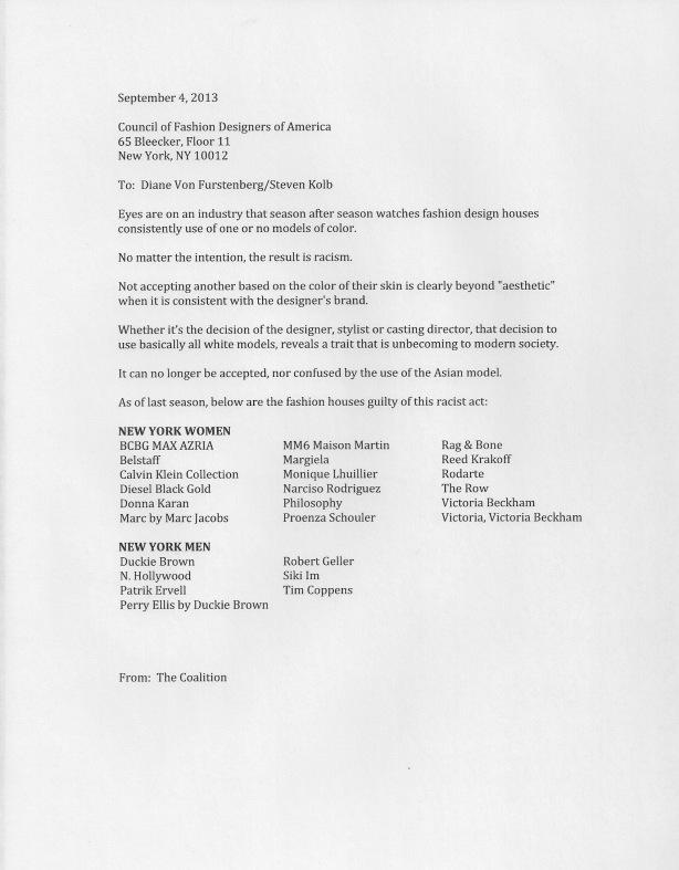 Diane Von Furstenberg Letter by Bethann Hardison